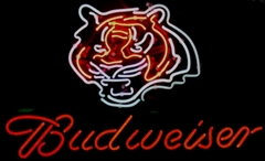 budweiser tiger head neon beer sign