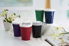 双层咖啡保温杯