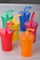 children multicolor plastic cups