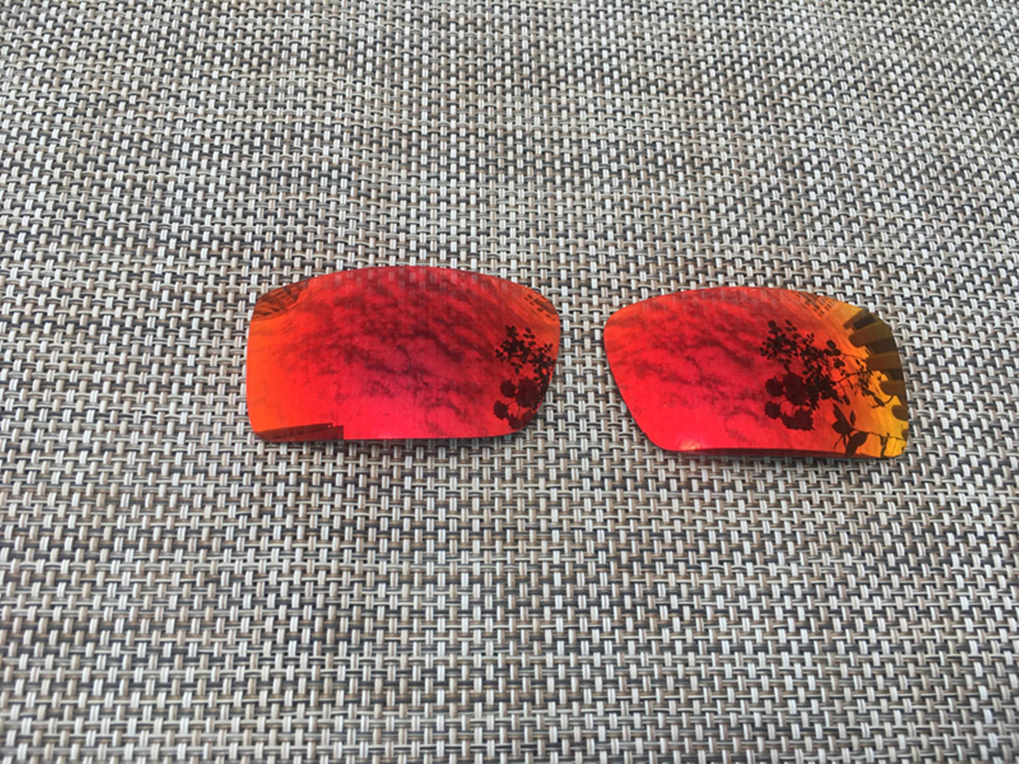 Fire Red  Replacement Polarized Lenses for Oakley Gascan Sunglasses  1