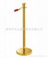 Crown barrier pole