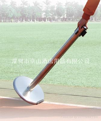 鑄鐵底帶剎車頭和滾軸伸縮帶欄 2