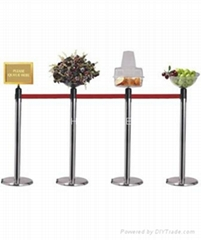Stanchions With Display Bowl