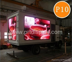 PH10 outdoor full color truck-mounted moving led display