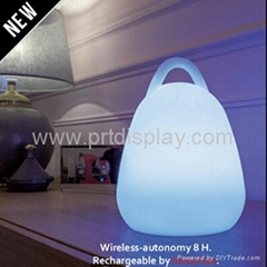 Color Changing PE Rechargeable Hand Lamp