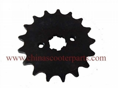 Different teeth front sprocket