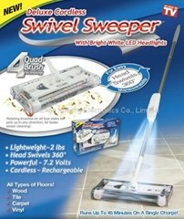 Rechargeable cordless Swivel Sweeper with LED Light