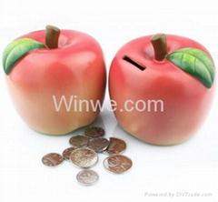 仿真蘋果儲錢罐