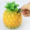 Plastic fruit money saving box