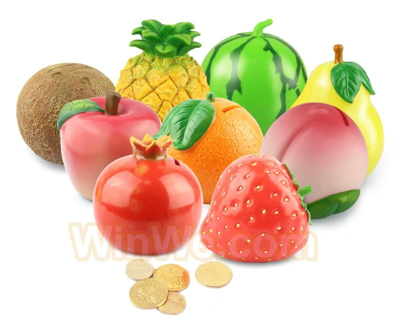 Plastic fruit money saving box 11