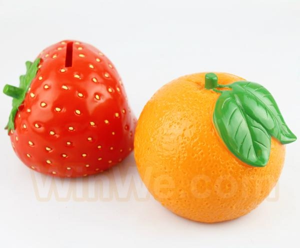 Plastic fruit money saving box 12