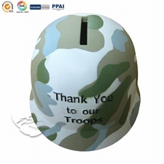 Troops shape money bank