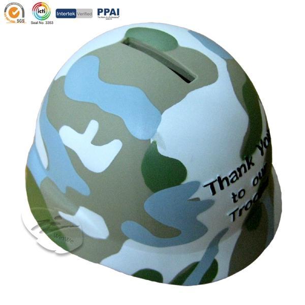 Troops shape money bank
