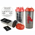 Shaker water bottle with storage container