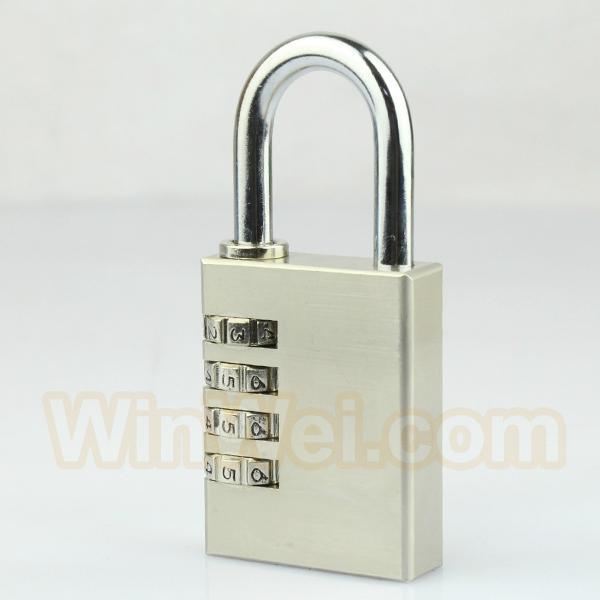 Digit brass padlock