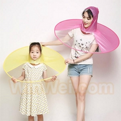 Waterproof pvc folding ufo cap umbrella