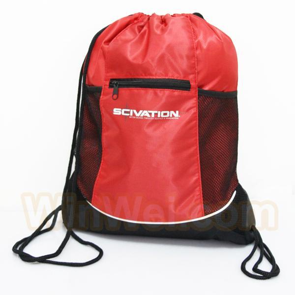 plastic drawstring backpack bag