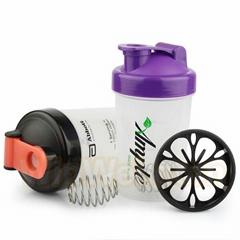 300ML Smart Shake Gym Protein Shaker Mixer Cup Blender Bottle Whisk Ball