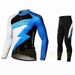 Cycling jersey and bib shorts with dye sublimation outdoor bicycle apparel