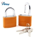 Steel shackle 5 pin security gym padlock in customer logo plastic cover 4