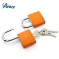 Steel shackle 5 pin security gym padlock in customer logo plastic cover