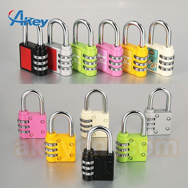 Hot sale mini code handbag number padlock 4