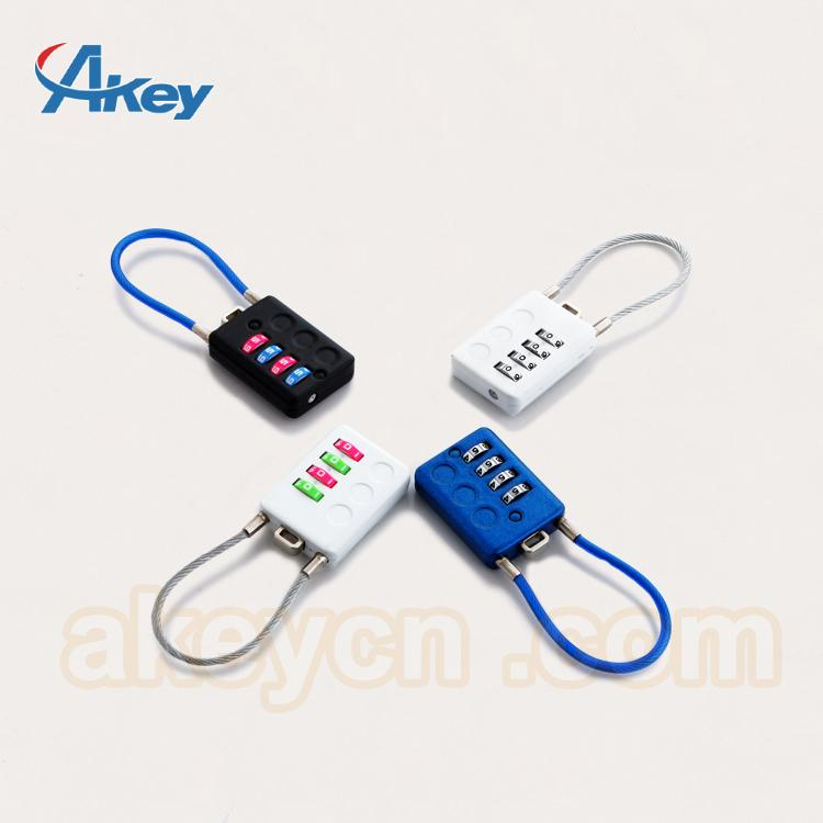 Travel Lugagge Cable Safety Combination Padlock 2