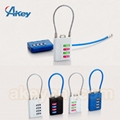 Travel Lugagge Cable Safety Combination Padlock 3