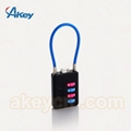 Travel Lugagge Cable Safety Combination Padlock