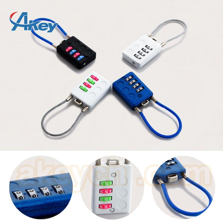 Travel Lugagge Cable Safety Combination Padlock 5