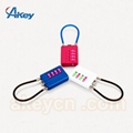 Four Number Code Zinc Alloy Combination Cable Padlock