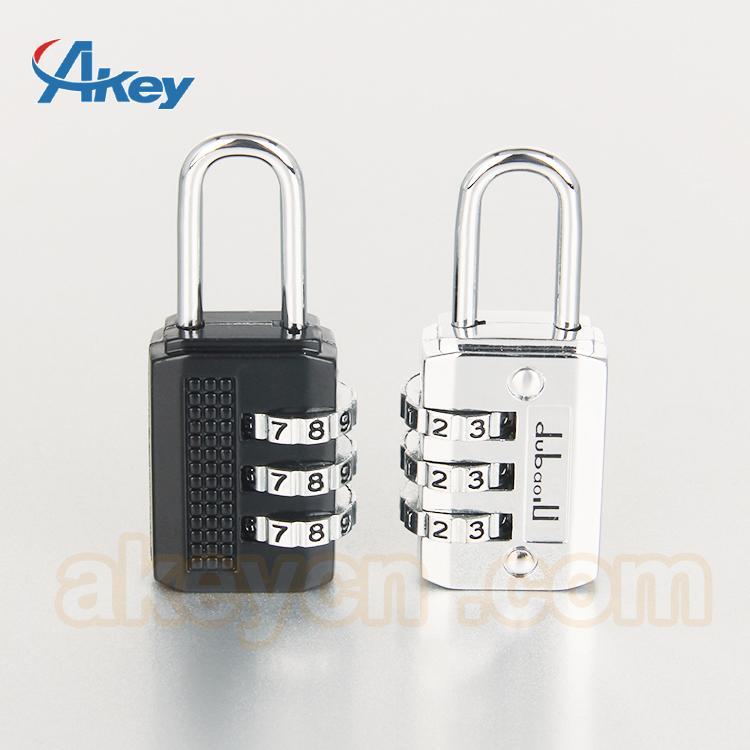 Brass travel door lock safety luggage combination padlock 2