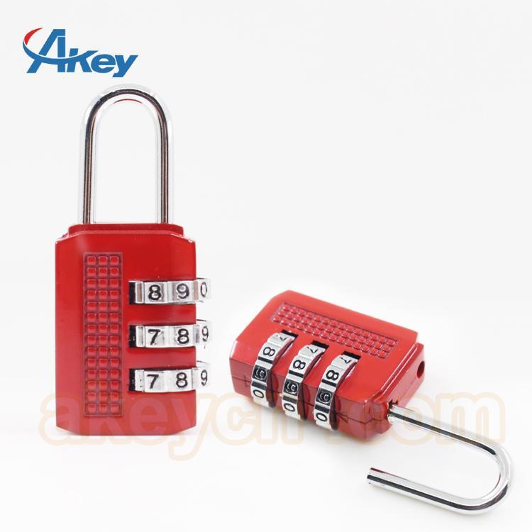 Brass travel door lock safety luggage combination padlock 1