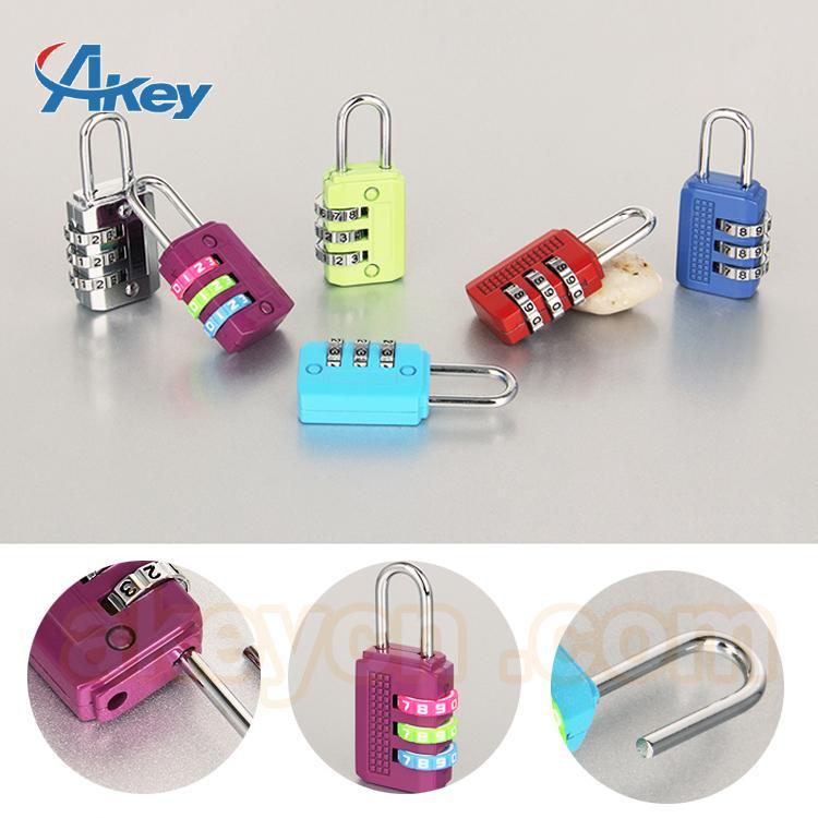 Brass travel door lock safety luggage combination padlock 3