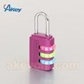 Brass travel door lock safety luggage combination padlock