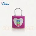 3 digits suitcase luggage combination lock padlock