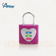 3 digits suitcase luggage combination lock padlock