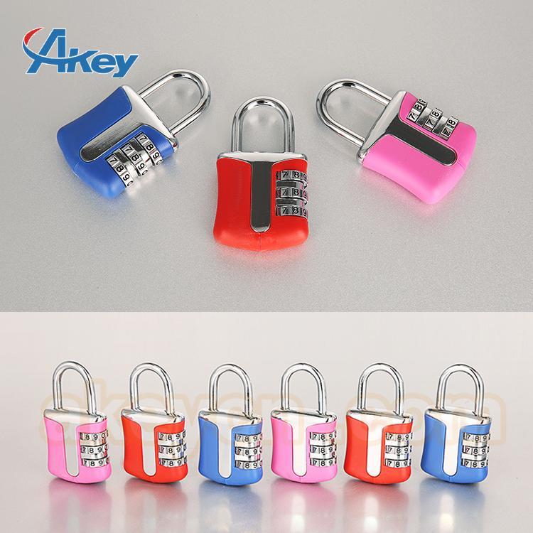 Professional Supplying combination bulk suitcase zipper lock 3
