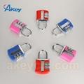 Professional Supplying combination bulk suitcase zipper lock 4