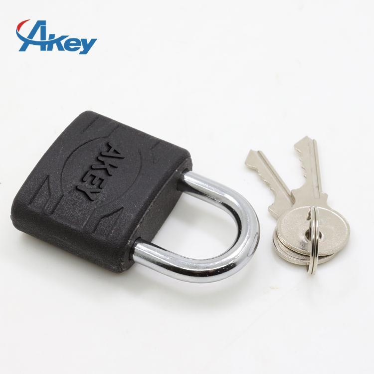 Plastic coated metal key lock master key padlock 1