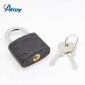 Plastic coated metal key lock master key padlock 4