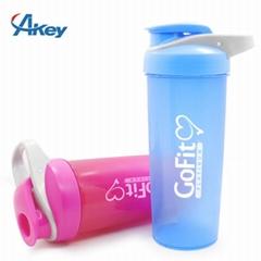 Plastic GYM shaker bottle fitness