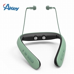 Wireless neckband stereo headset