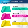 2 Pack Yoga Pilates Latex Stretch Bands and Custom Resistance Bands