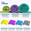 4 Pack Exercise Band Flat Latex Home Gym Fitness Equipment
