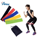 Customizable logo fitness exercise elastic latex pull loop hip resistance bands