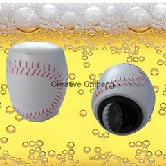 Baseball Design Push Up Bottle Opener
