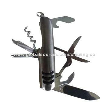Carbon Steel 7-function Wine Beer Opener Knife 1