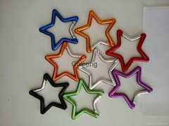 Star Aluminum Keychain