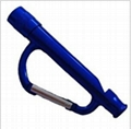 LED light whistle carabiner